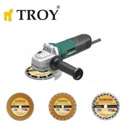 TROY - TROY 12125 Avuç Taşlama Ø125mm, 900W + 3 Adet Elmas Kesici Disk
