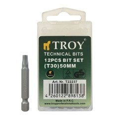 TROY 22237 Torx Bits Uç Seti (T30x50mm, 12Adet) - Thumbnail