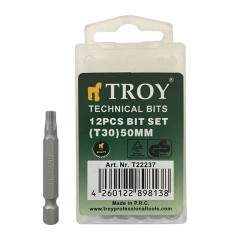 TROY - TROY 22237 Torx Bits Uç Seti (T30x50mm, 12Adet)