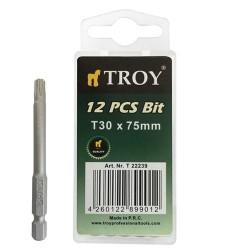 TROY - TROY 22239 Torx Bits Uç Seti (T30x75mm, 10Adet)