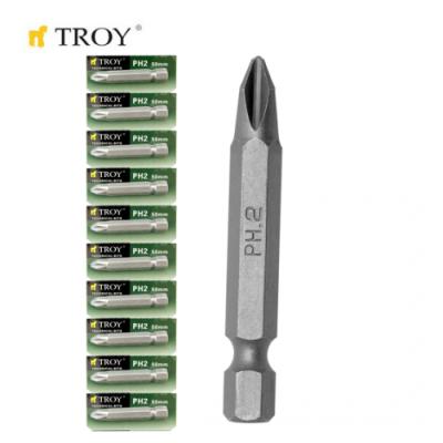 TROY 22256-10 Bits Uç Seti (10xPH2x50mm)