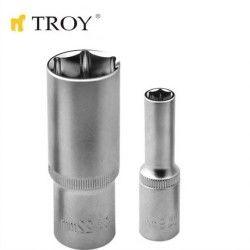 """TROY 26111 1/2"""" Lokma (Ölçü 12mm-Ø16,5mm-Uzunluk 50mm)"""