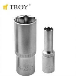 """TROY 26111 1/2"""" Lokma (Ölçü 12mm-Ø16,5mm-Uzunluk 50mm) - Thumbnail"""
