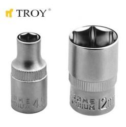 """TROY 26153 1/4"""" Lokma (Ölçü 14mm-Çap 19,8mm-Uzunluk 25mm) - Thumbnail"""