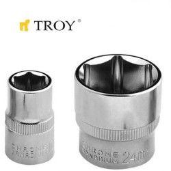 "TROY 26176 3/8"" Lokma (Ölçü 22mm-Çap 29,8-Uzunluk 32mm)"