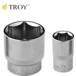 """TROY 26188 1/2"""" Lokma (Ölçü 16mm-Çap 21,8-Uzunluk 38mm) - Thumbnail"""