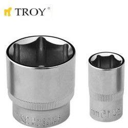 "TROY 26194 1/2"" Lokma (Ölçü 22mm-Çap 29,8-Uzunluk 38mm)"