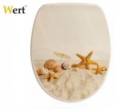 WERT - WERT 8213 Deniz Yıldızı Desenli Kırılmaz Klozet Kapağı
